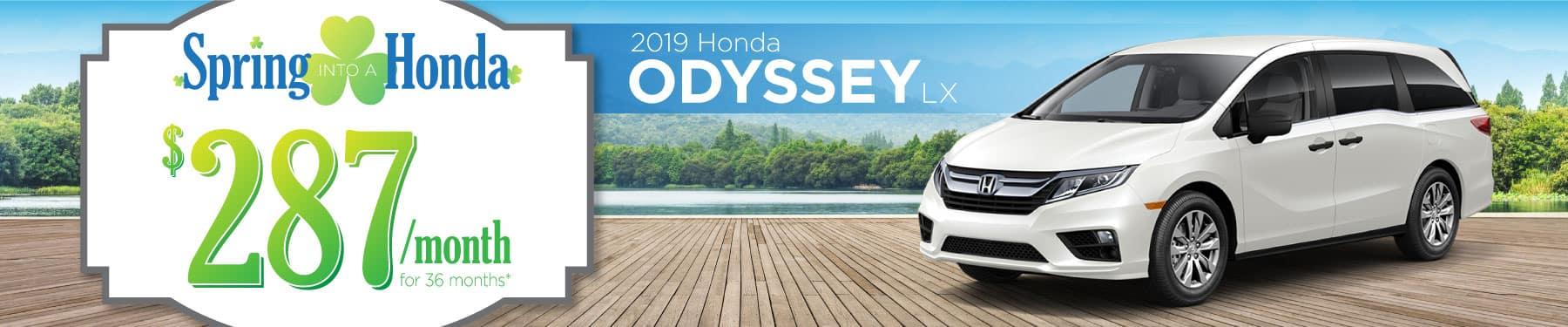 Header Photo of the 2019 Honda Odyssey