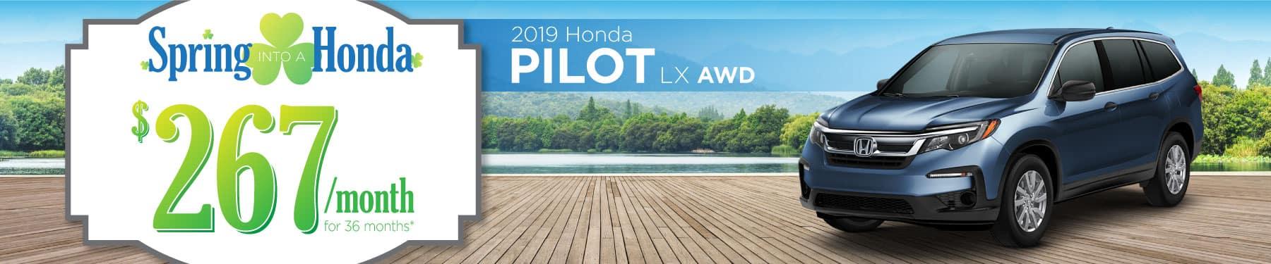 Header Photo of the 2019 Honda Pilot