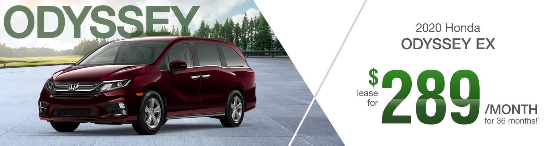 Header Photo of the 2020 Honda Odyssey