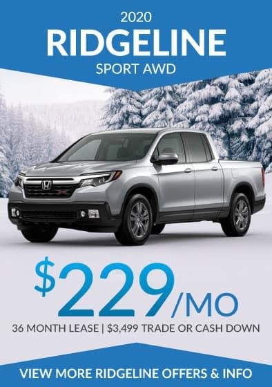 2020 Honda Ridgeline Offer