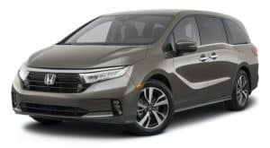 A grey 2022 Honda Odyssey is angled left.
