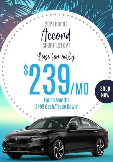 2021 Honda Accord Offer