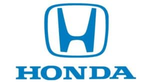 The Honda logo is shown against a white background.