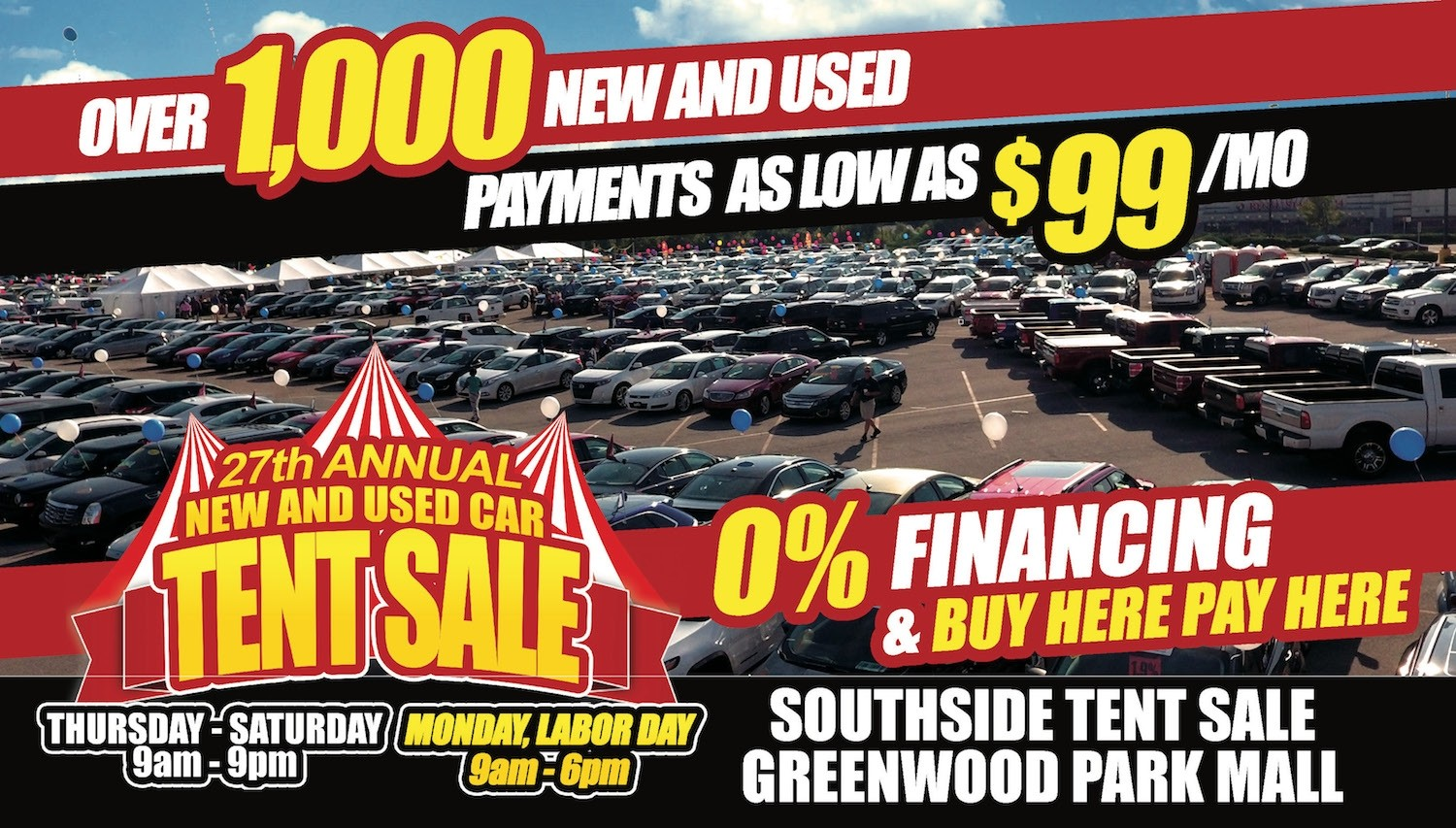 New-Used-Car-Tent-Sale