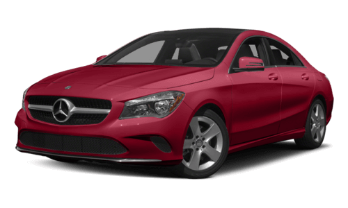 2017 Mercedes-Benz CLA 250 Coupe red exterior model
