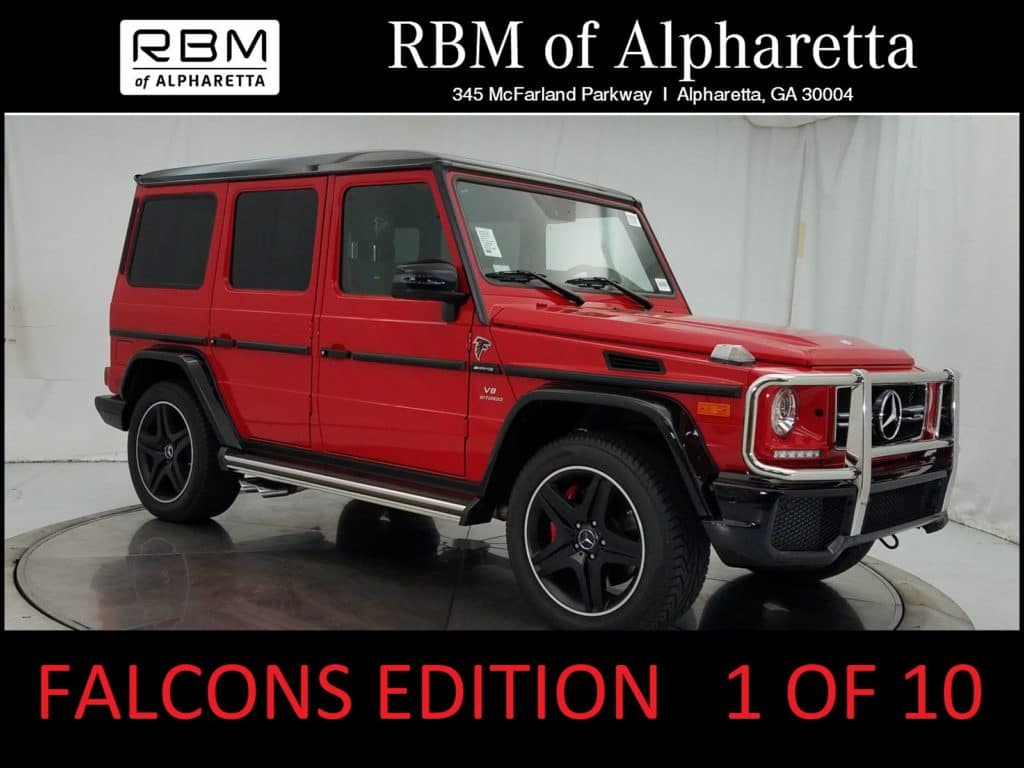 2017 Mercedes-Benz AMG G63 4MATIC SUV Falcons Edition Pre-Owned Executive Demo Special