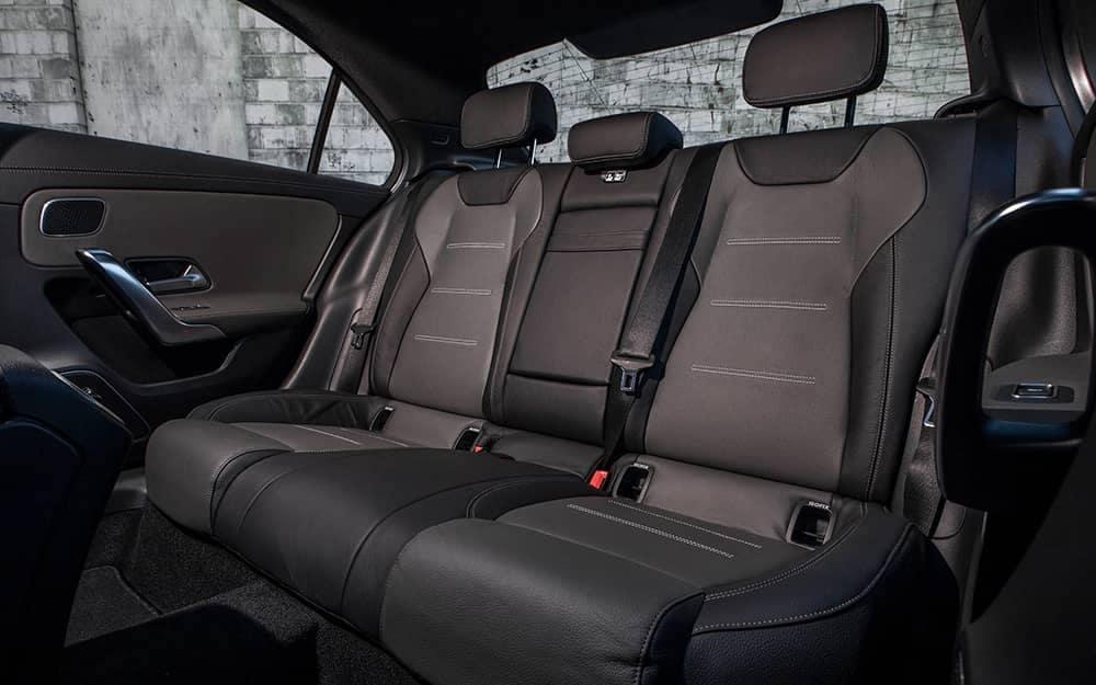 2019 MB A-Class Backseat