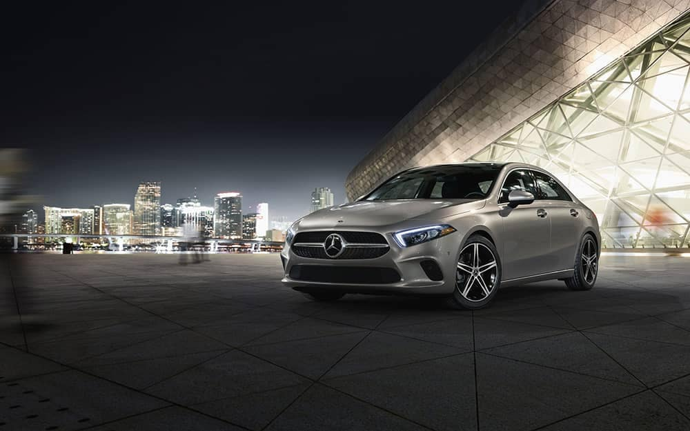 2020-MB-A-Class At Night