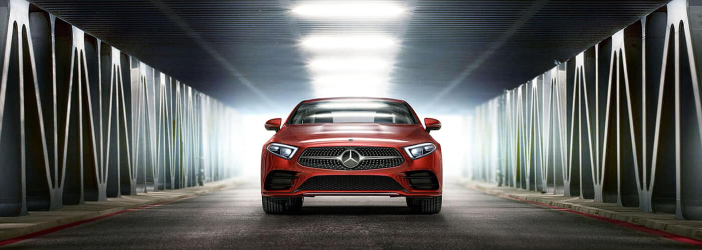 Red 2020 Mercedes-Benz CLS 450 in Tunnel