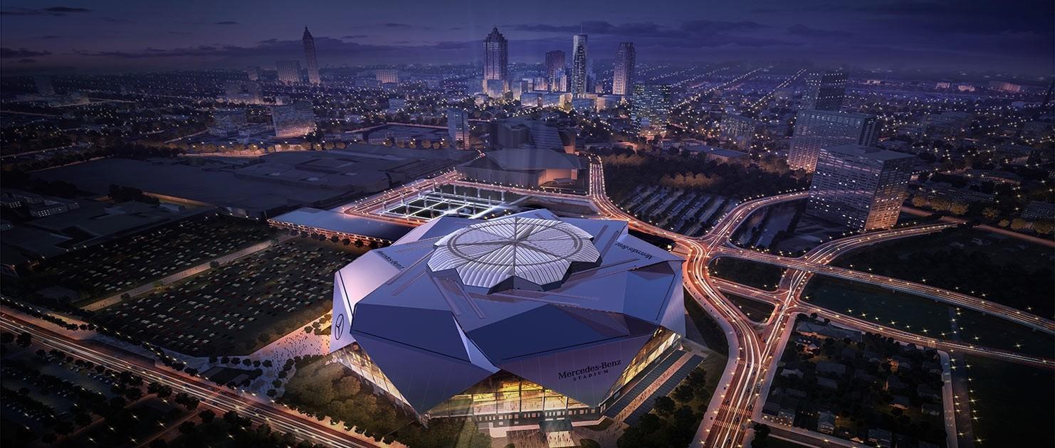 Mercedes benz stadium for Mercedes benz stadium parking atlanta