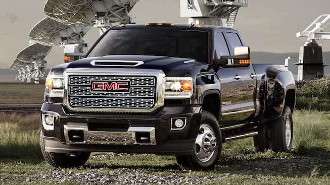 gmc sierra from the front