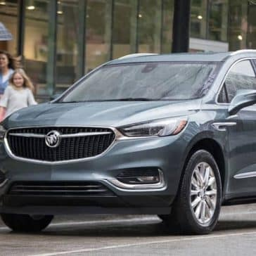 2019 Buick Enclaved Parked Outside Street Shops