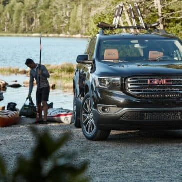 2019 GMC Acadia parked by a lake