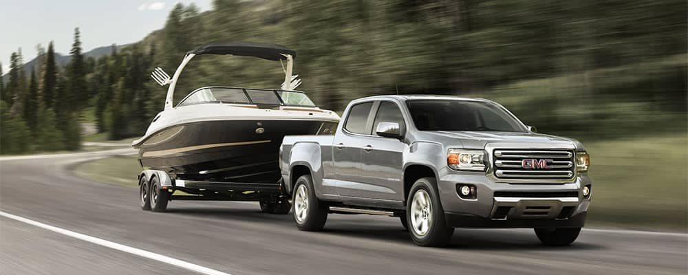 2019 GMC Canyon Towing a Boat