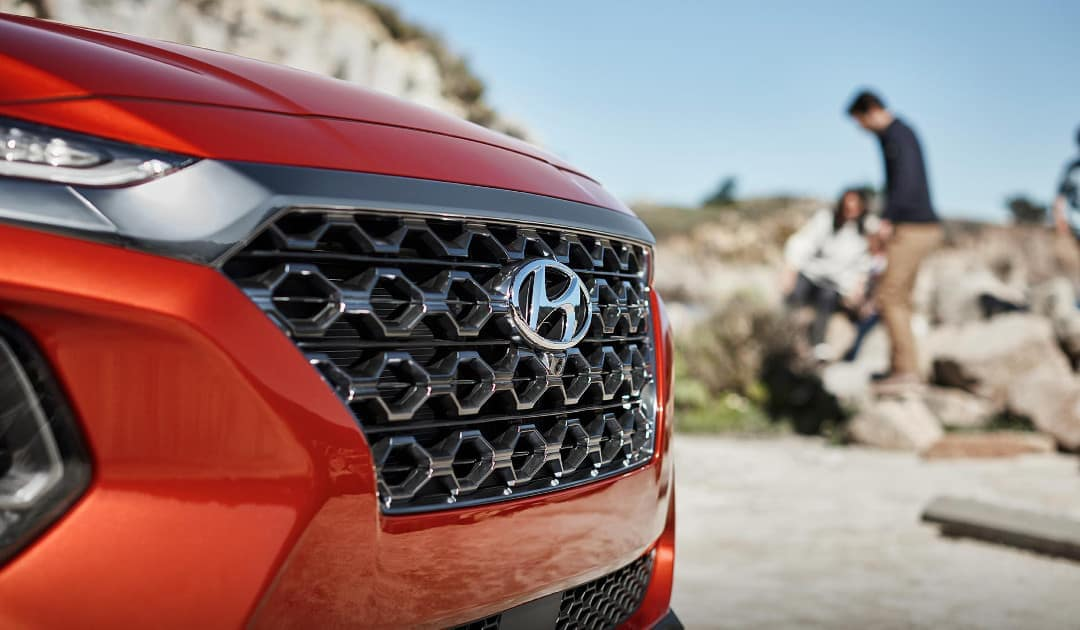 2019 Hyundai Santa Fe Closeup of Front End