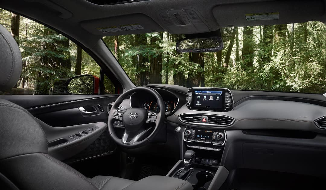 2019 Hyundai Santa Fe Interior Front Seating and Dashboard