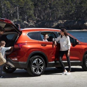 Family Standing by 2019 Hyundai Santa Fe