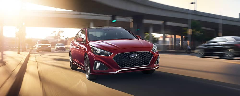 2019 Hyundai Sonata Driving on a Highway
