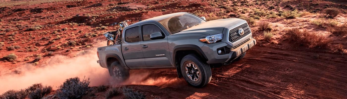 2019 toyota tacoma silver offroading