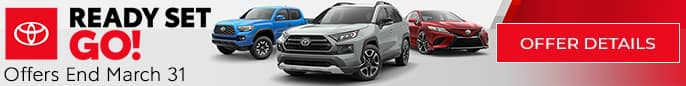 Toyota Ready Set Go Event! Click to view offers.
