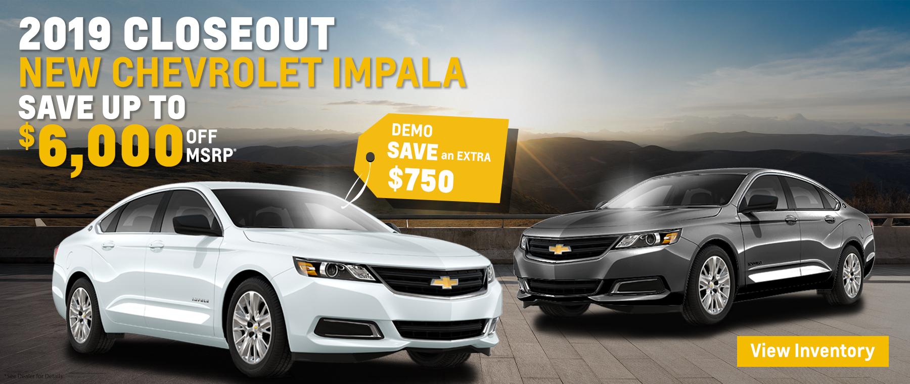 RW Chevy Closeout Impala – Web Banner Desktop