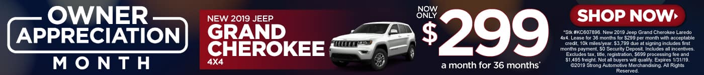 2019 Jeep Grand Cherokee Special Offer
