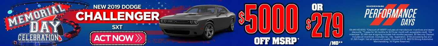 New 2019 Dodge Challenger