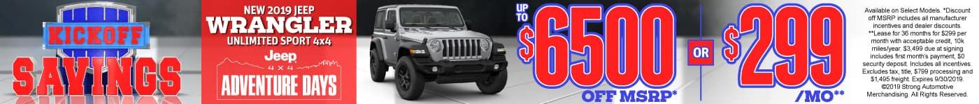 New 2019 Jeep Wrangler