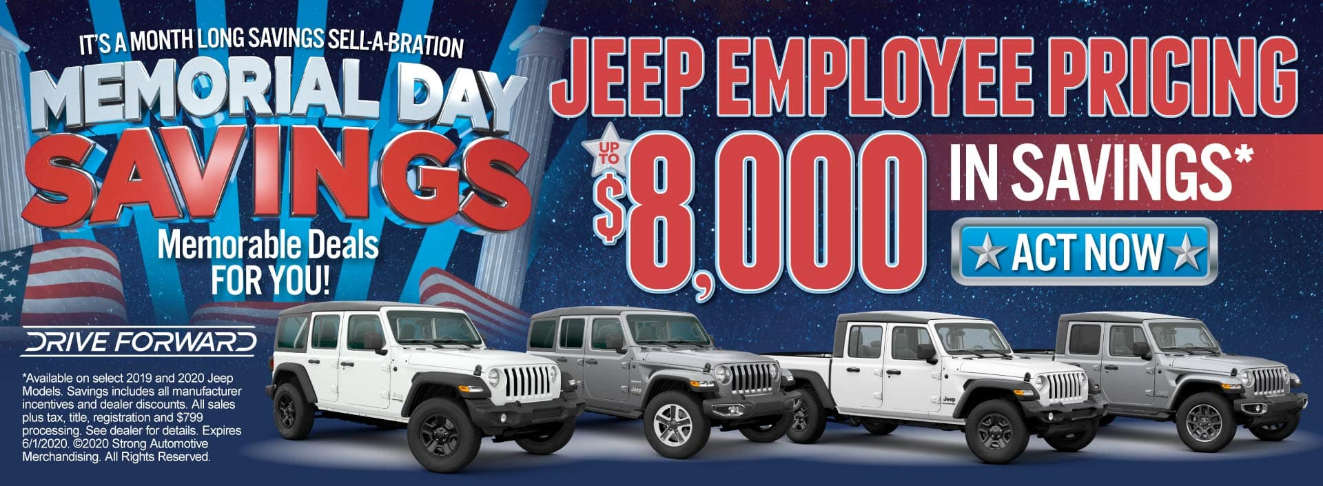 Jeep Employee Pricing - Up to $8,000 in savings - Click to View Inventory
