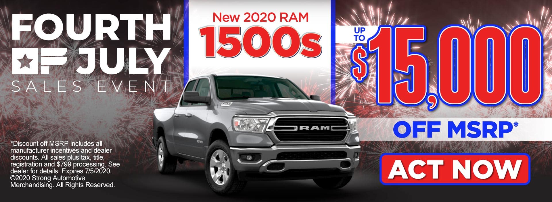 New 2020 Ram 1500s - up to $15,000 off MSRP* - Click to View Inventory