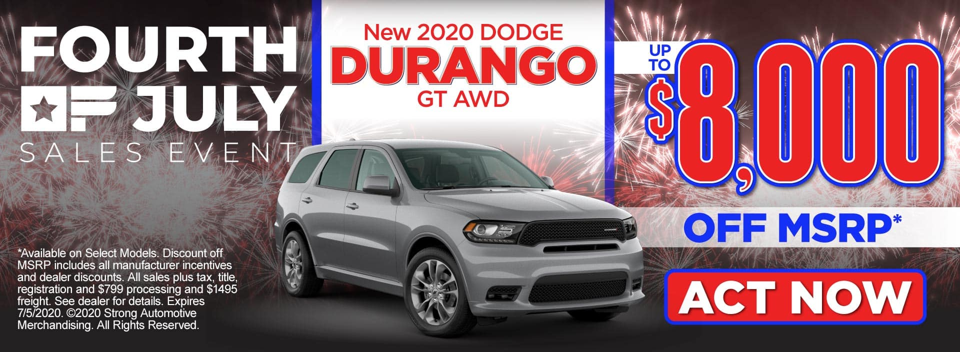 New 2020 Dodge Durango – up to $8,000 off MSRP* – Click to View Inventory