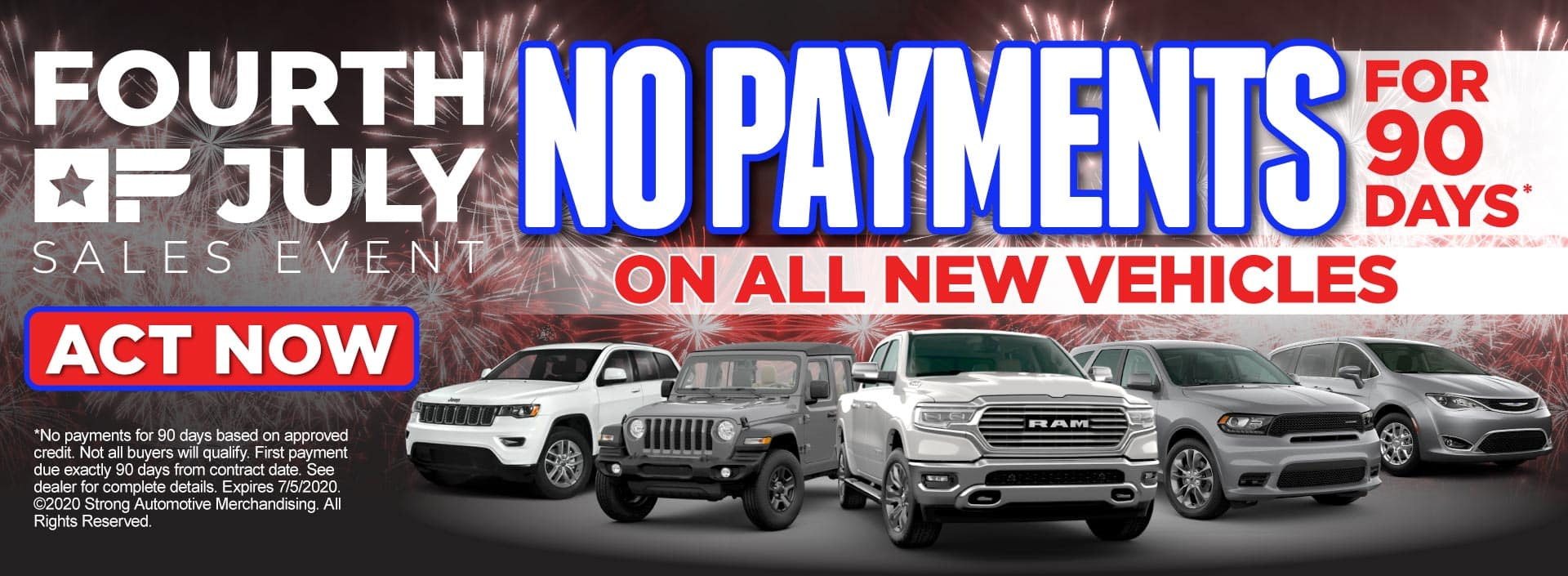 No Payments for 90 Days* on all new vehicles – Click to View Inventory