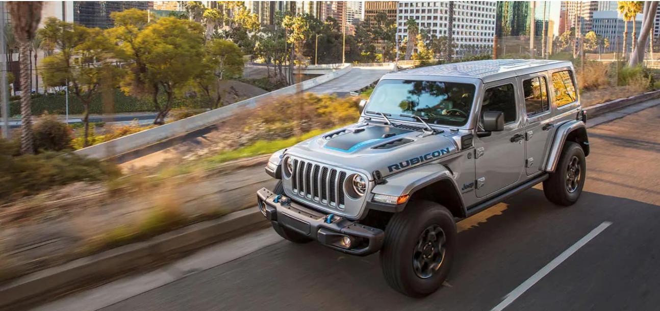 2021 Jeep Wrangler 4xe electric blue accent exterior