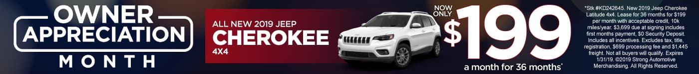 Jeep Cherokee 4x4 Lease Special