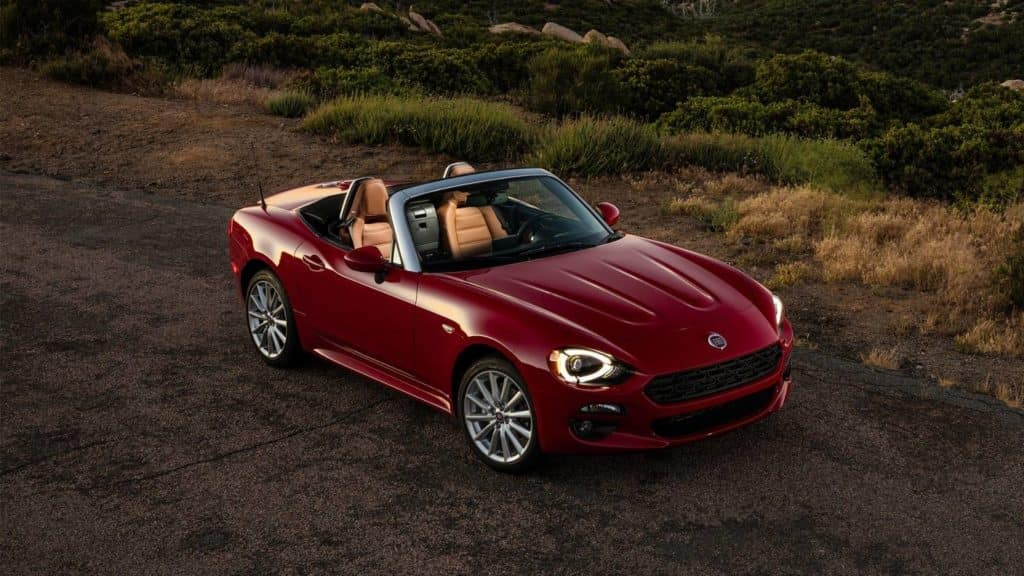 the 124 Spider on the road