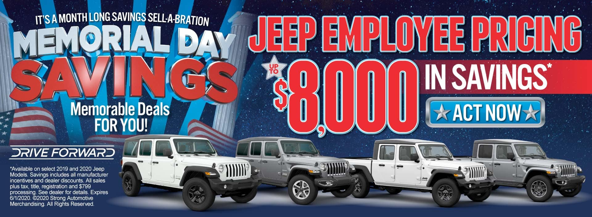 Jeep Employee Pricing up to $8000 in savings. ACT NOW