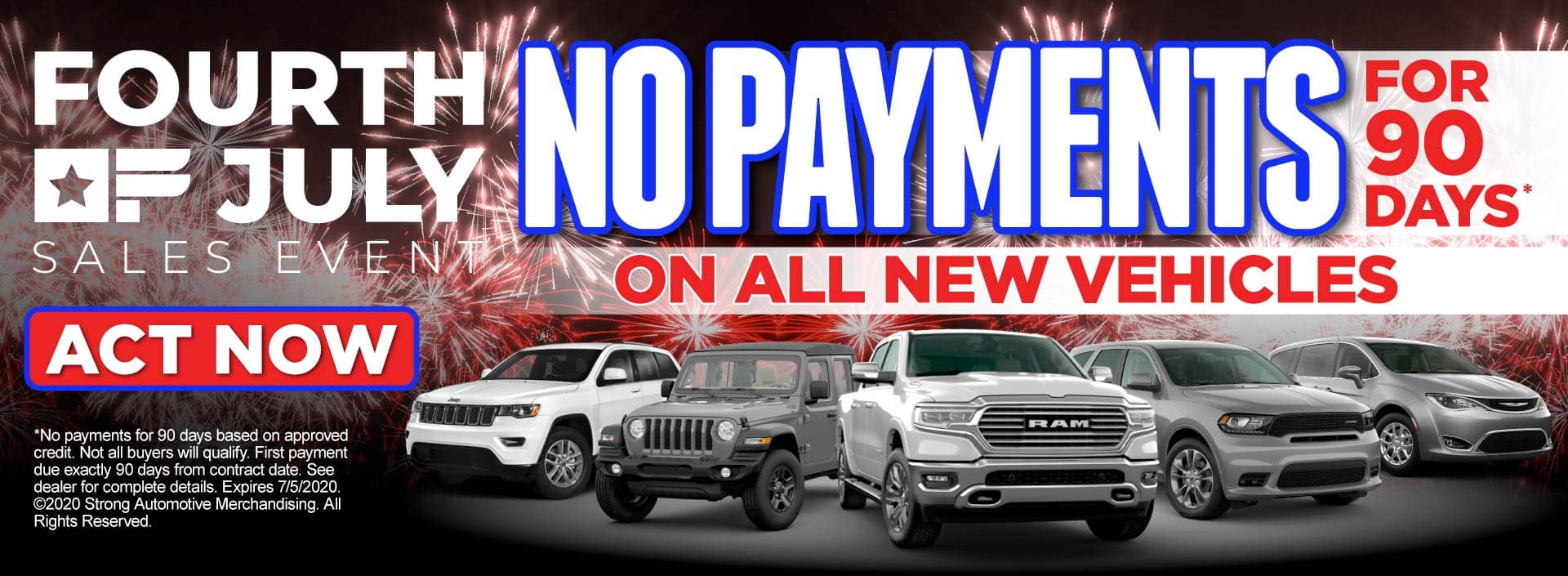 No Payments for 90 Days* on all new vehicles – View Inventory
