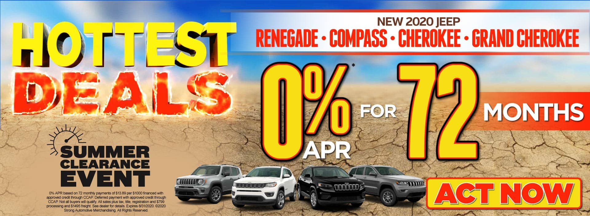 0% APR for 72 months* - Click to View Inventory
