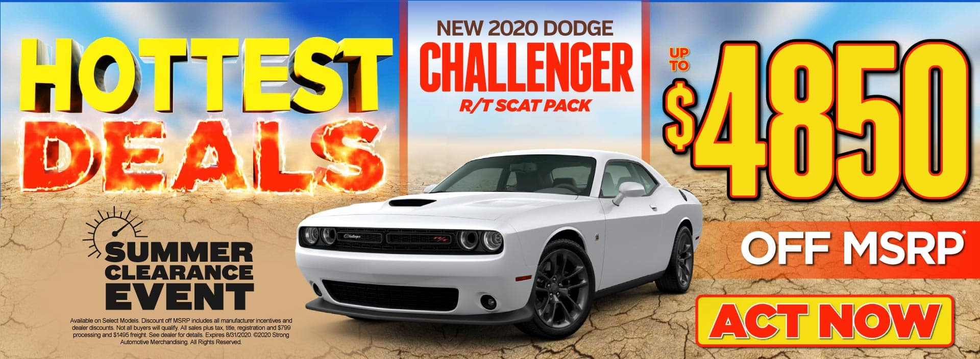New 2020 Dodge Challenger - Up to $4850 off MSRP* - Click to View Inventory