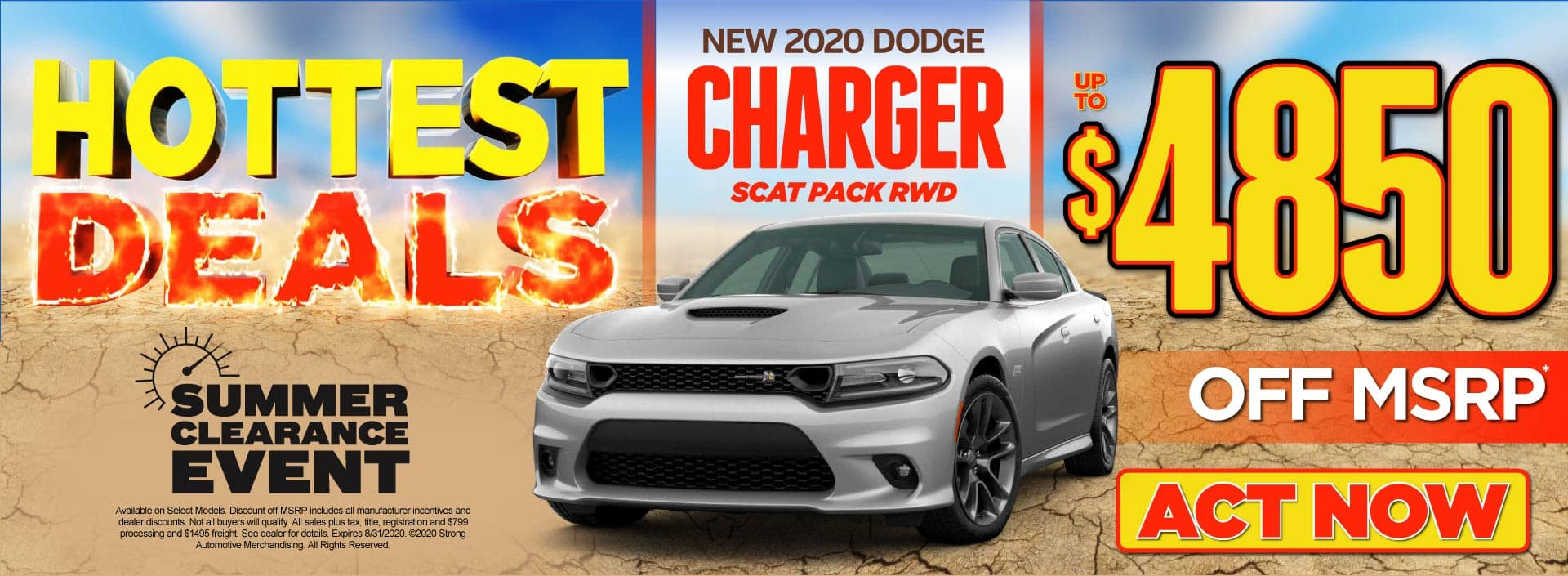 New 2020 Dodge Charger - Up to $4850 off MSRP* - Click to View Inventory