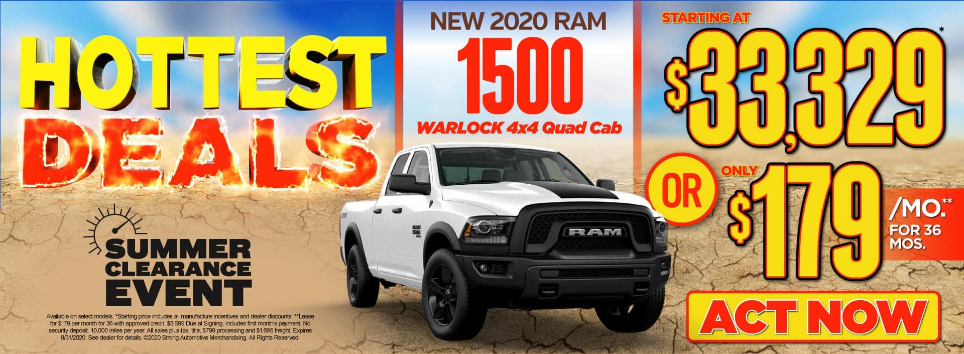 New 2020 Ram 1500 Warlock 4x4 - Starting at $33,329* or $179/mo** - Click to View Inventory