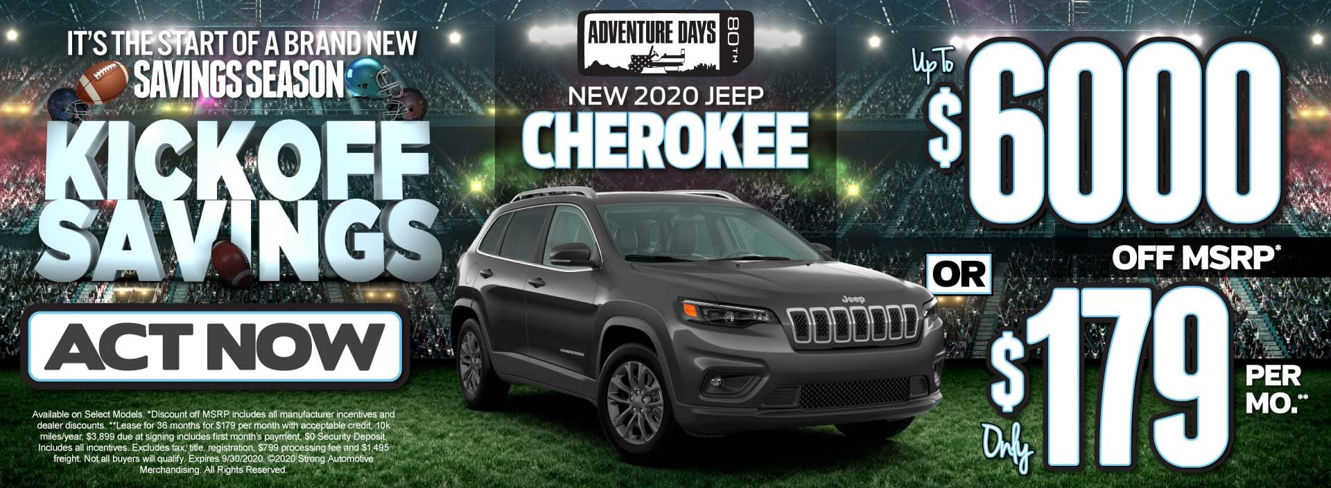 New 2020 Jeep Cherokee up to $6000 Off MSRP - ACT NOW