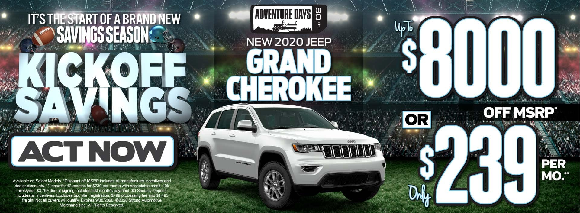 New 2020 Jeep Grand Cherokee up to $8000 Off MSRP - ACT NOW