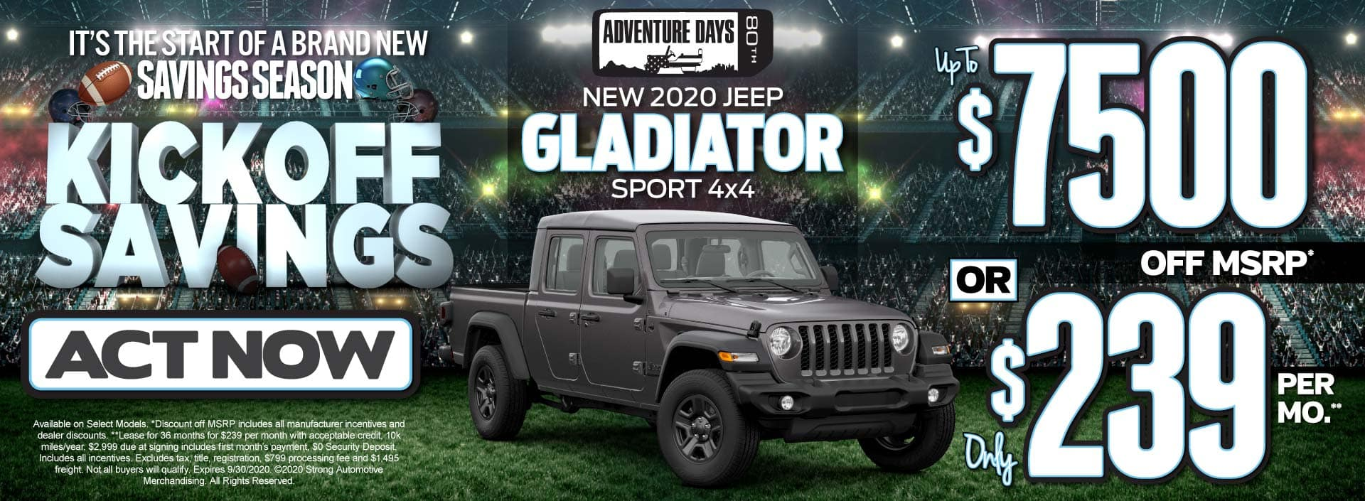 New 2020 Jeep Gladiator up to $7500 Off MSRP - ACT NOW
