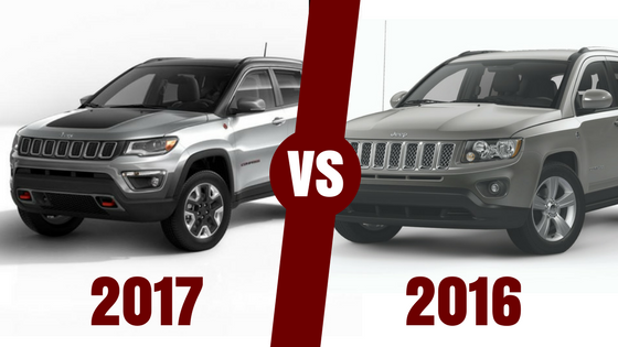 model comparison the all new 2017 jeep compass vs 2016 editionblog images the 2017 jeep compass