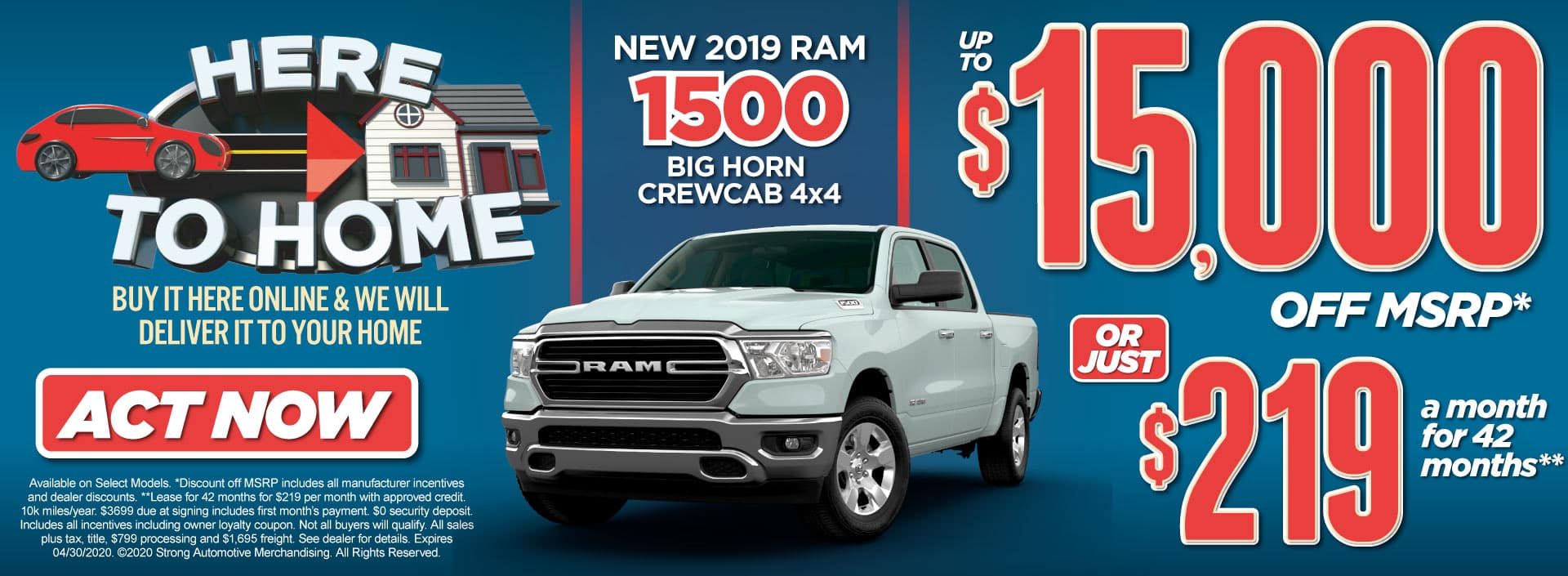 New 2019 Ram 1500 Special Act Now