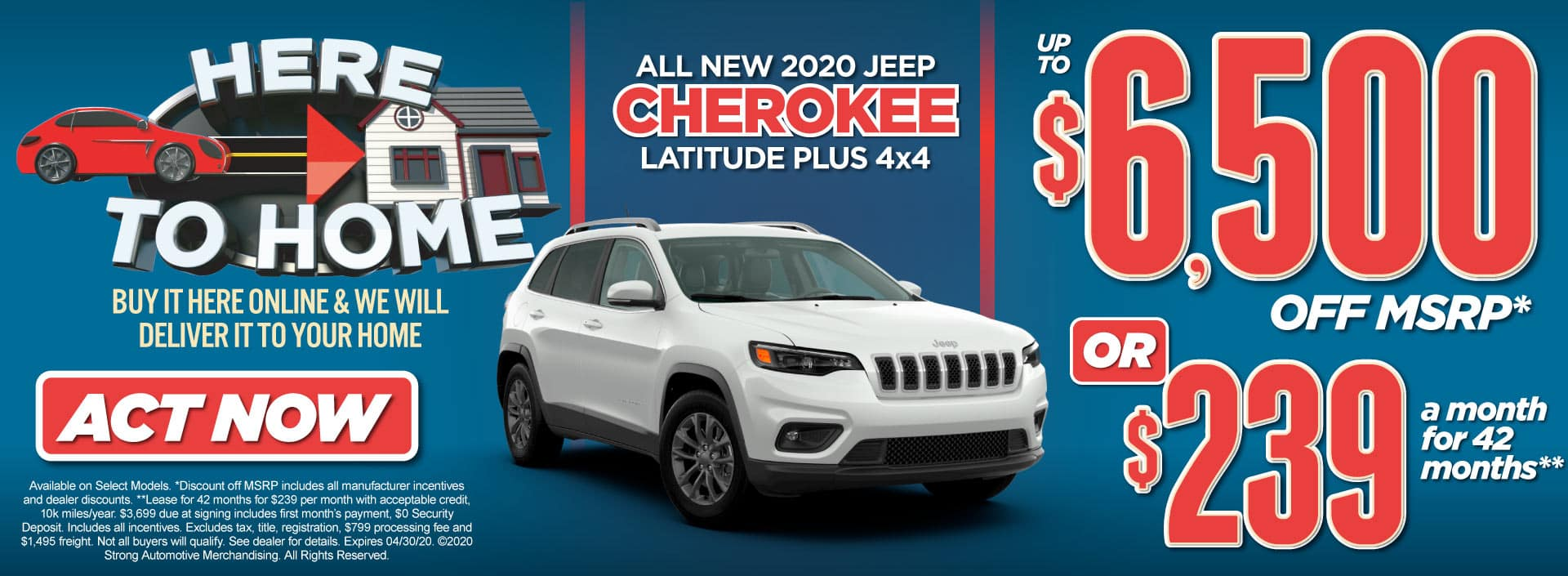 New 2020 Jeep Cherokee Special Act Now