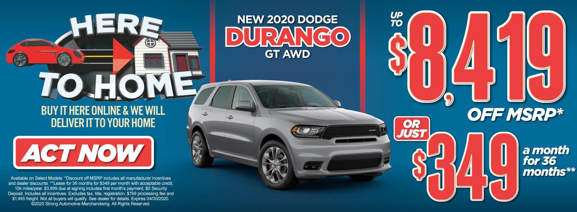 New 2020 Dodge Durango Special Act Now