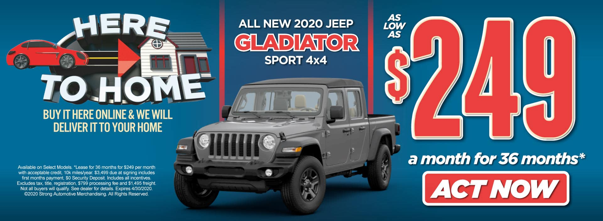 New 2020 Jeep Gladiator Special Act Now