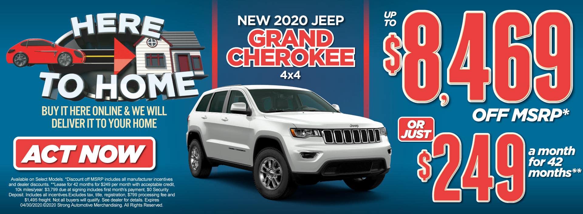 New 2020 Jeep Grand Cherokee Special Act Now